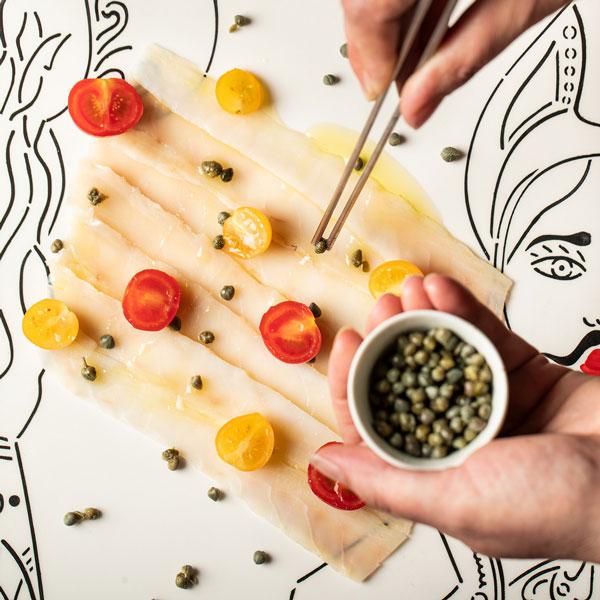 Piatto Casa & Putia Baccalà Capperi Pomodori