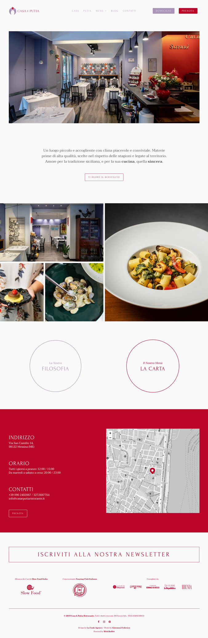 La Cook Website Casa & Putia Design